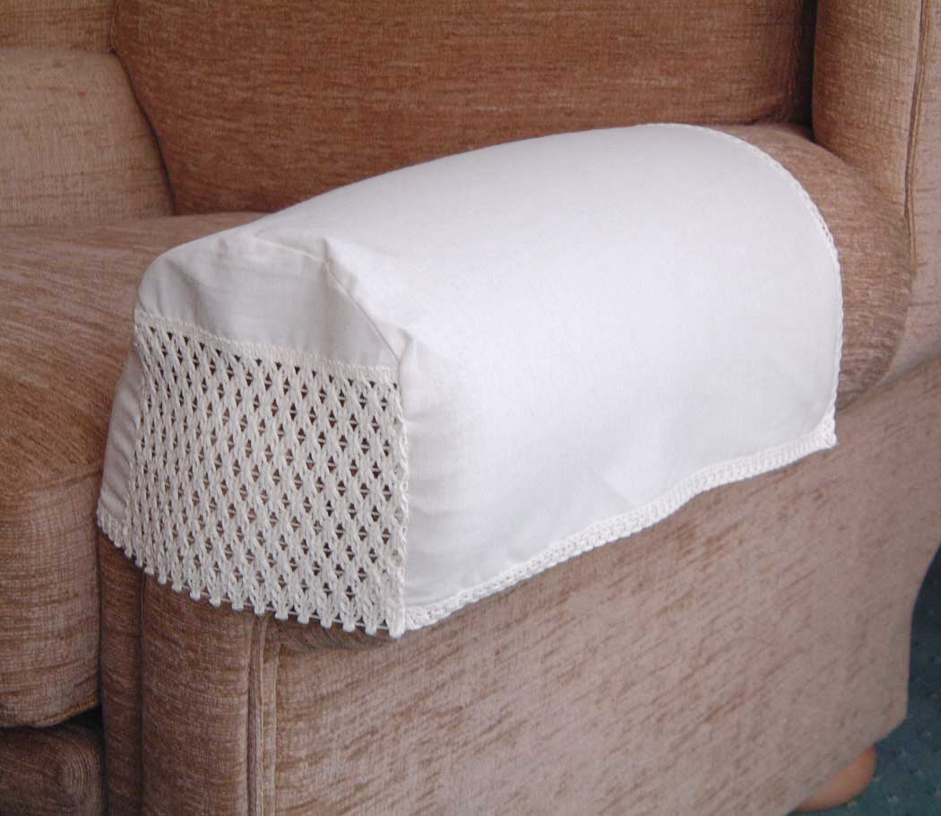 choice of antimacassar chair backs and arm caps in 4
