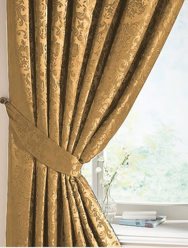 Gold Damask Eyelet Curtains - Best Curtains 2017