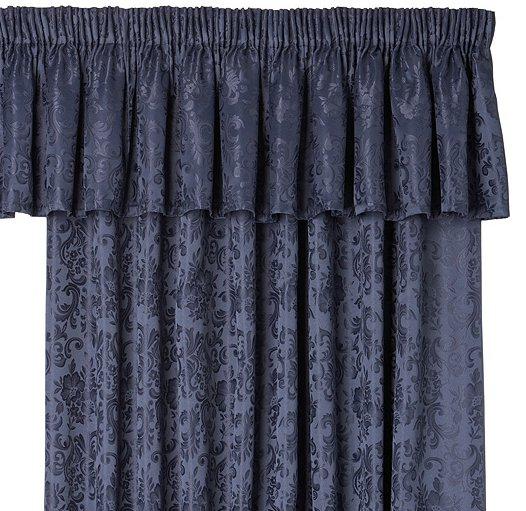 Curtains Ideas damask curtain : LANA DAMASK CURTAIN PELMETS IN NAVY BLUE | eBay