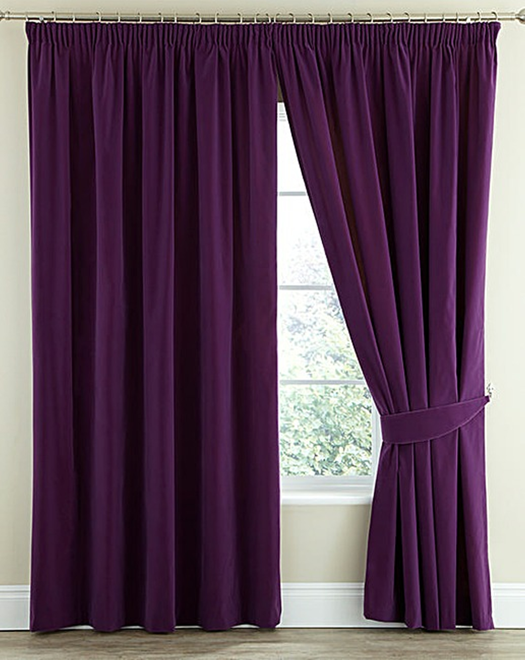 Thermal Velour Velvet Pencil Pleat Curtains Finished In Bottle Green