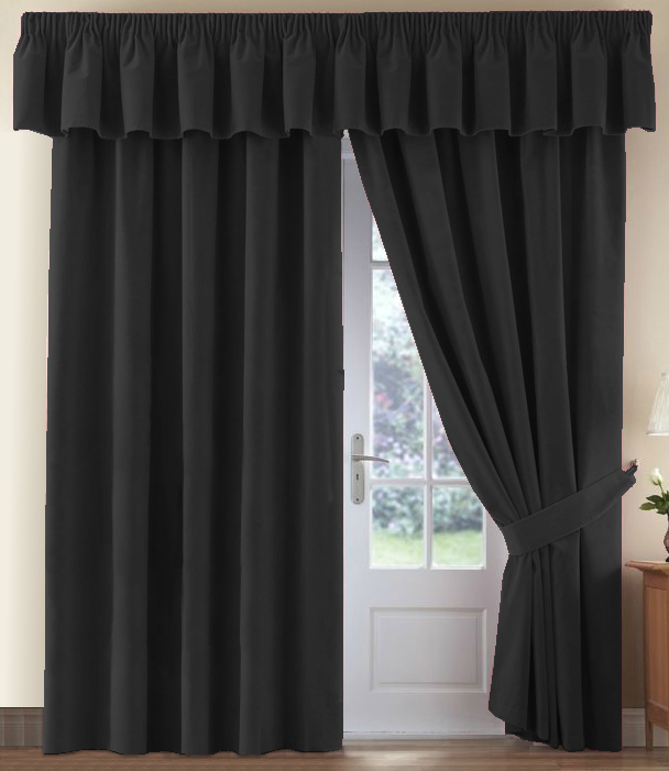 Pair thermal velour velvet plain dyed pencil pleat curtains in multiple colours ebay