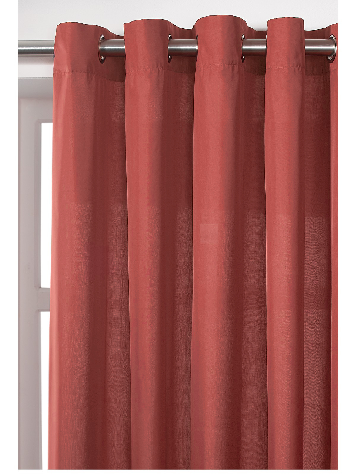DISCOUNTED PLAIN DYE VOILE LINED CURTAIN - RING TOP / EYELET - CHOICE ...