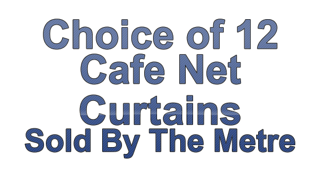 CHOICE OF 12 FINEST VALUE PREMIUM QUALITY CAFE NET CURTAINS - SOLD ...
